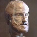 Aristoteles (död 322 f Kr) var den förste att ge ut läroböcker i retorik